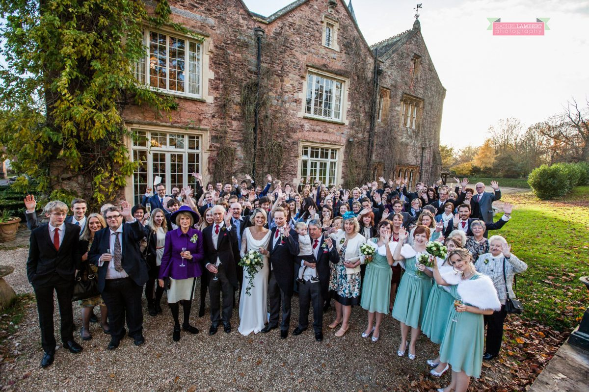 rachel lambert photography maunsel house wedding group shot