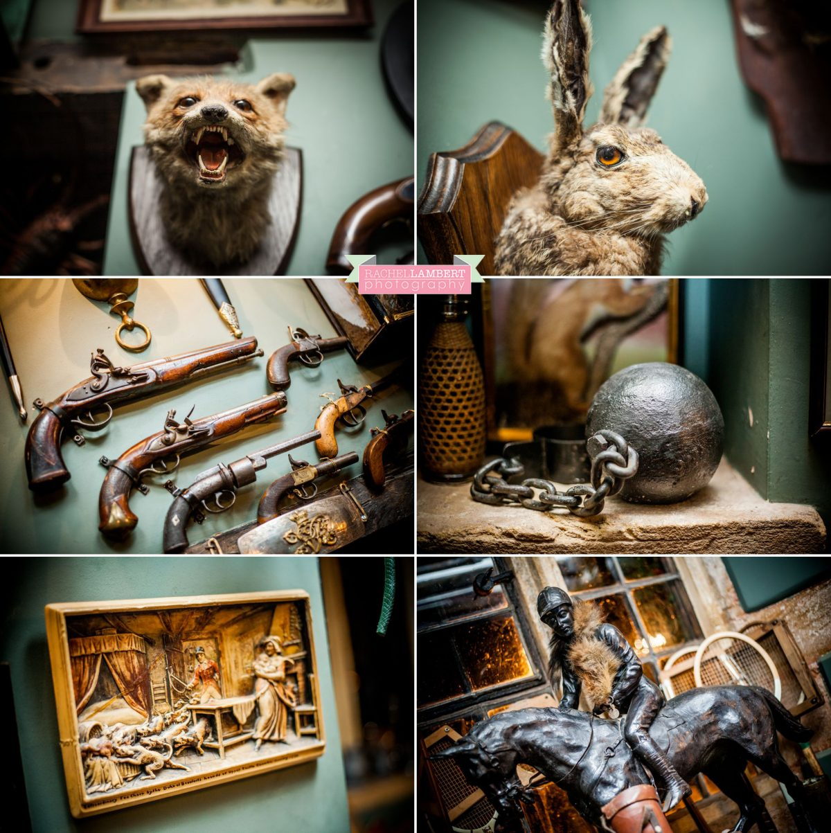 rachel lambert photography maunsel house wedding taxidermy