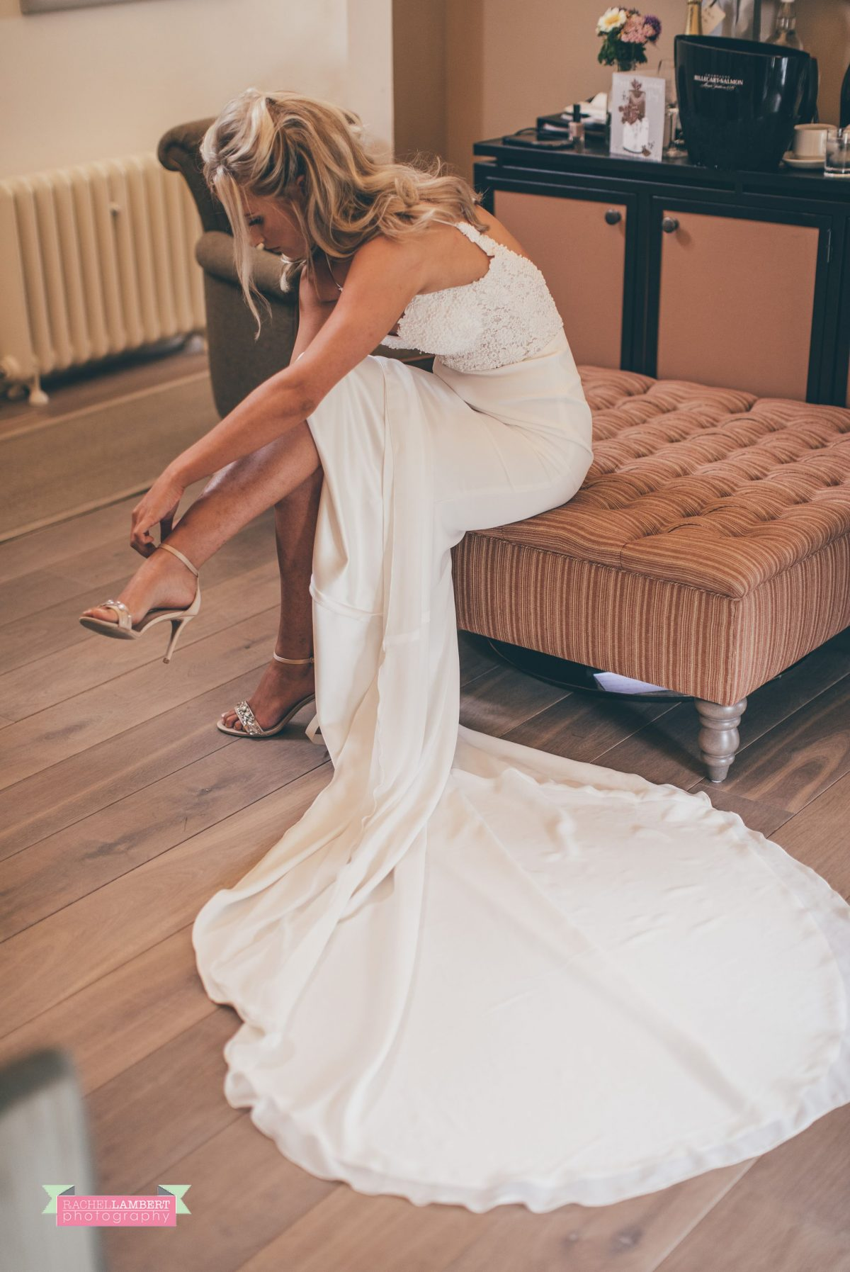 bridal getting dressed preparation at the grove narberth