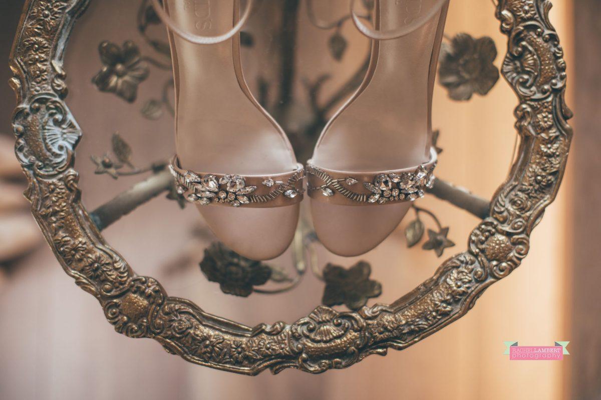 bridal shoes preparation at the grove narberth