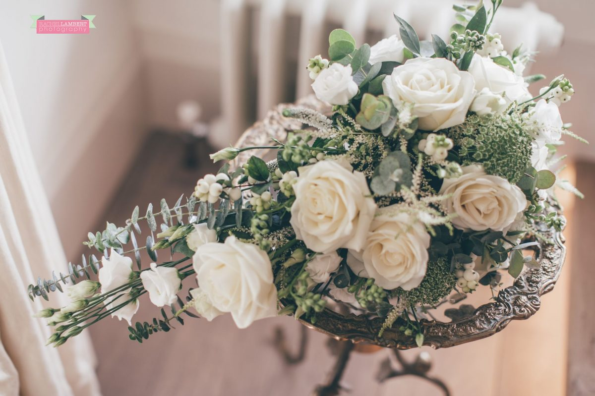 bridal flowers preparation at the grove narberth