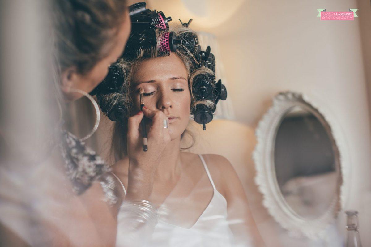 bridal makeup preparation at the grove narberth