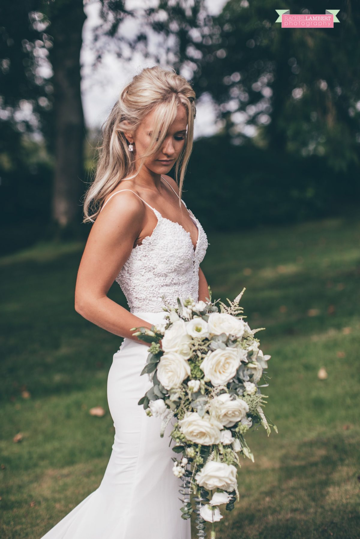 bride portrait flowers the grove narberth
