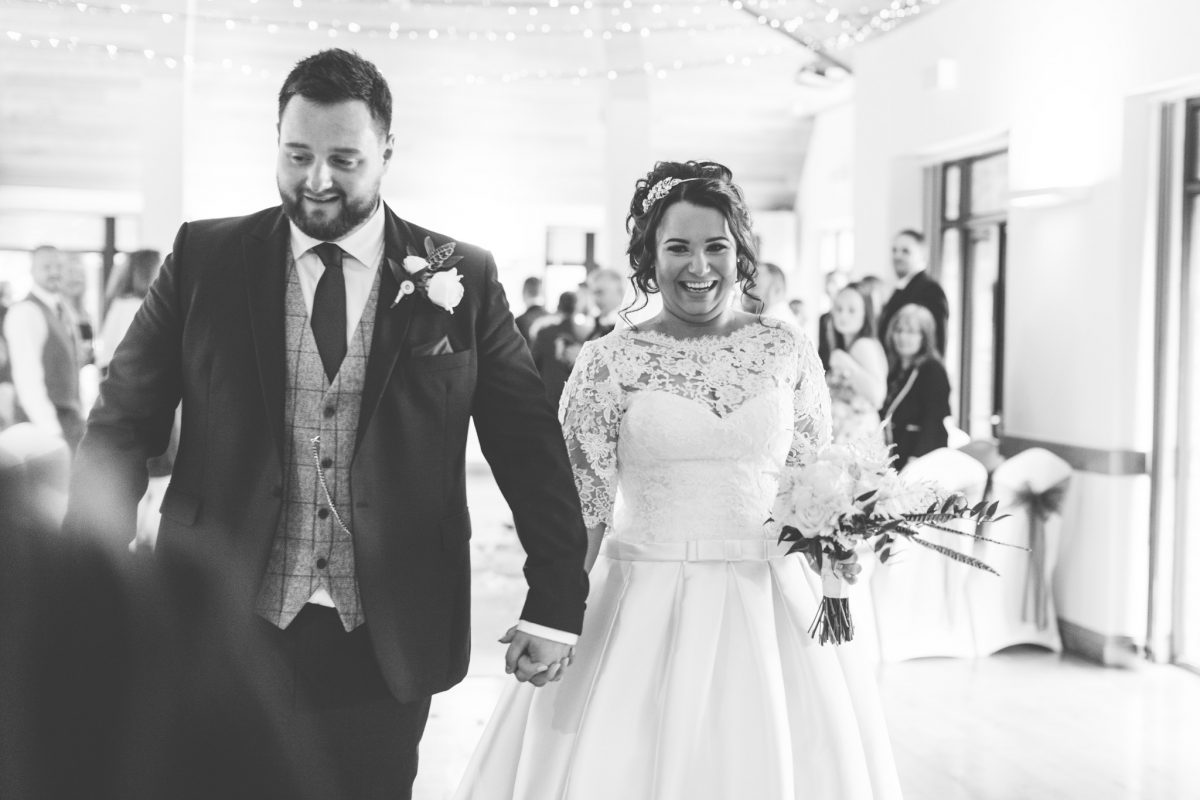 just married at canada lake lodge wales welsh wedding photographer