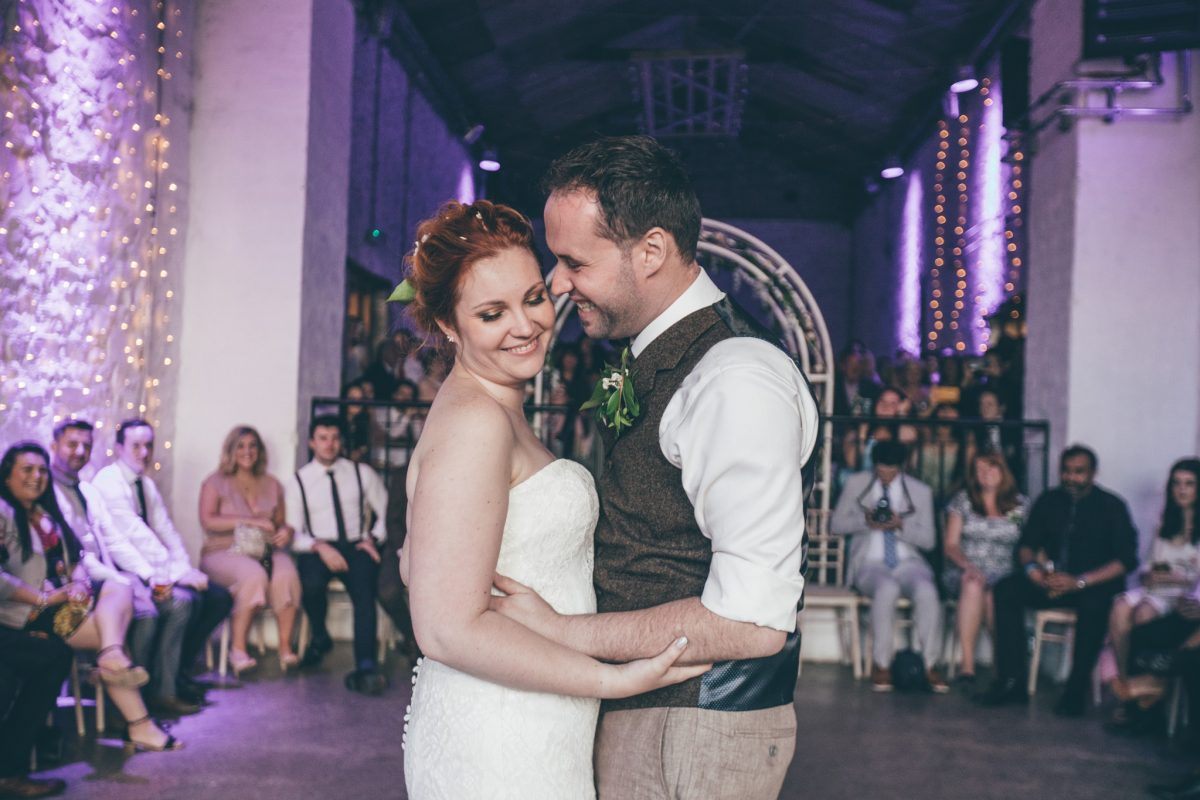 first dance at rosedew farm bride and groom summer wedding in wales