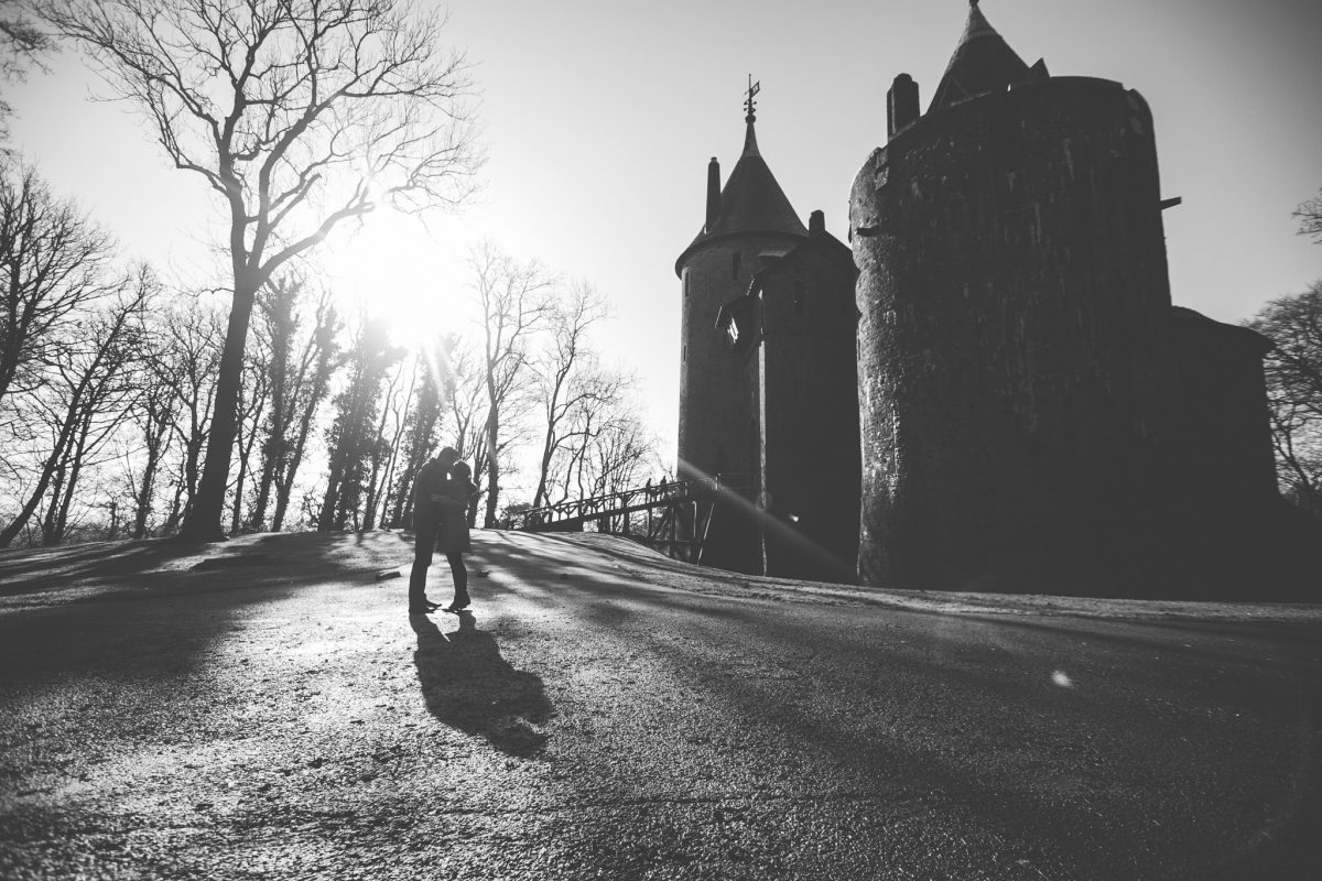 engagement shoot at castell coch