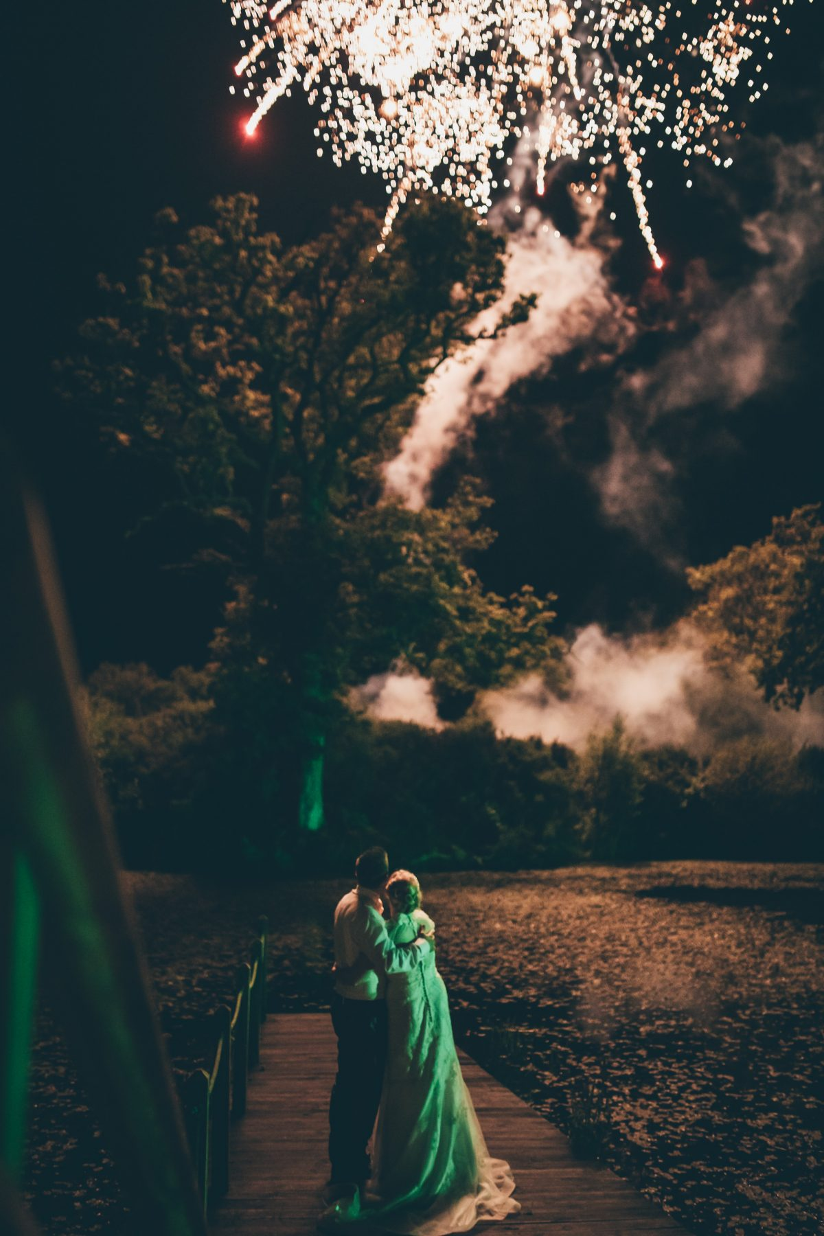 fireworks at oldwalls wedding venue rachel lambert photography