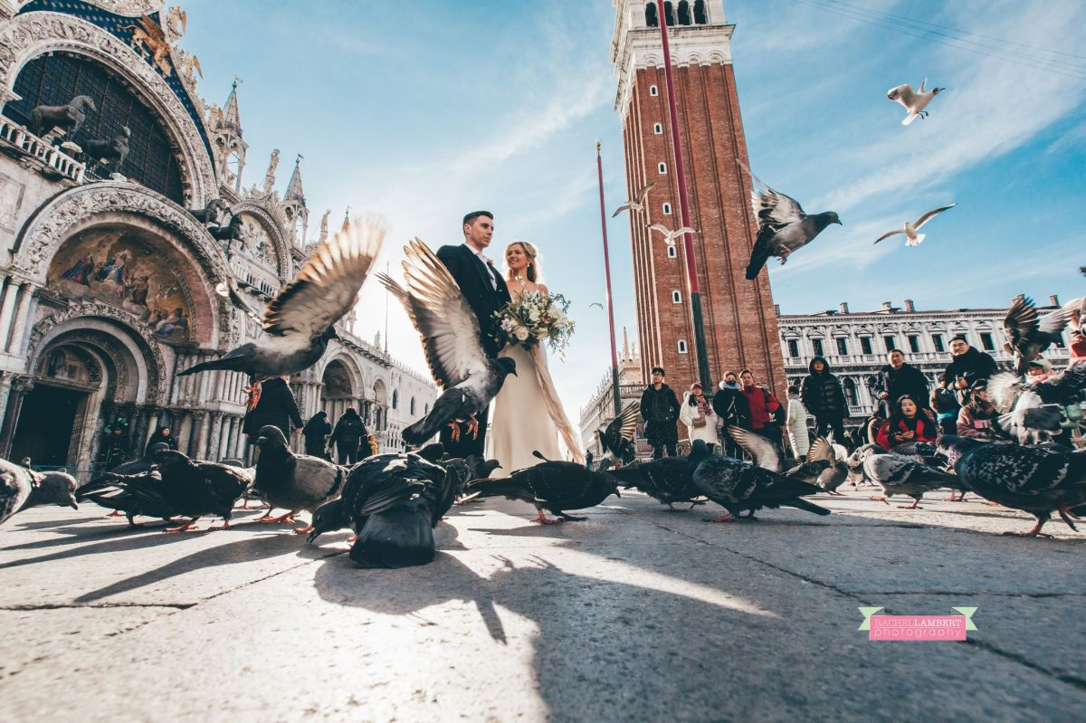 cwtch destination wedding photography workshop bride and groom in piazza san marco