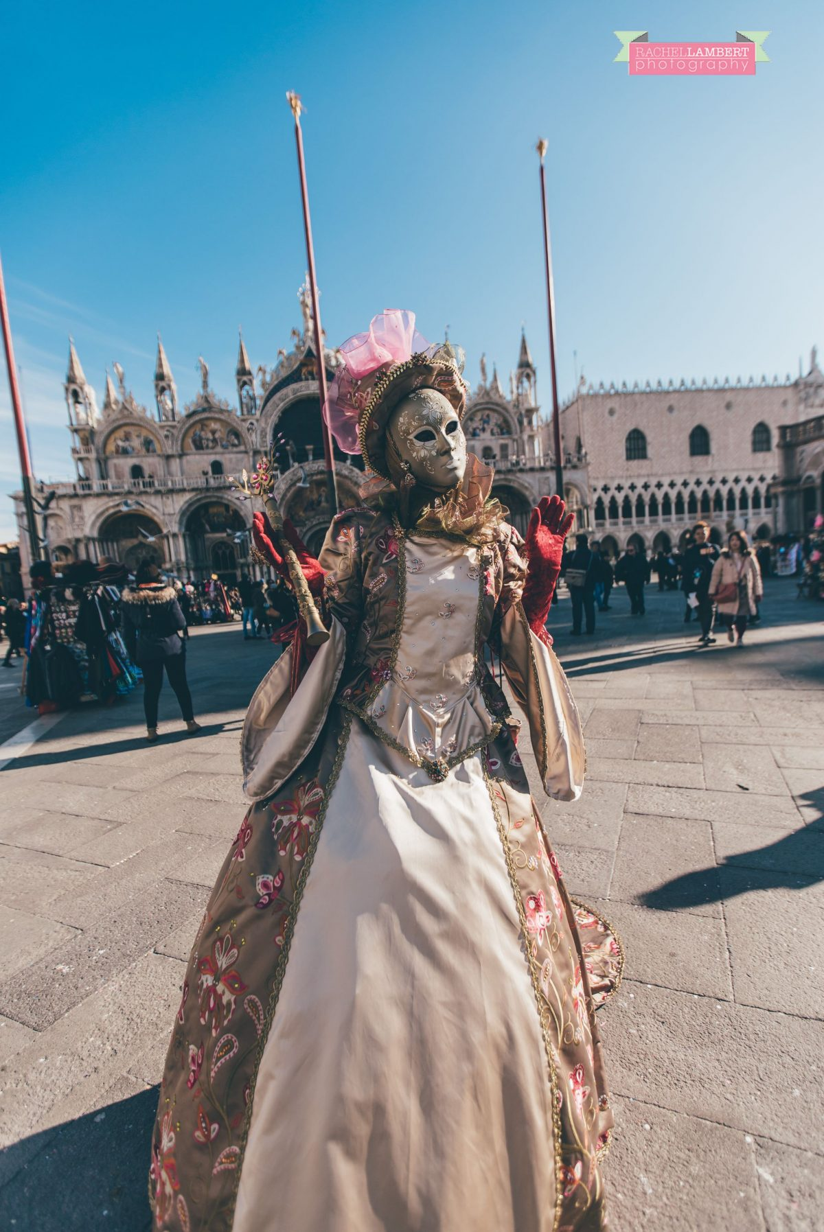 venice mask festival st marks square italy