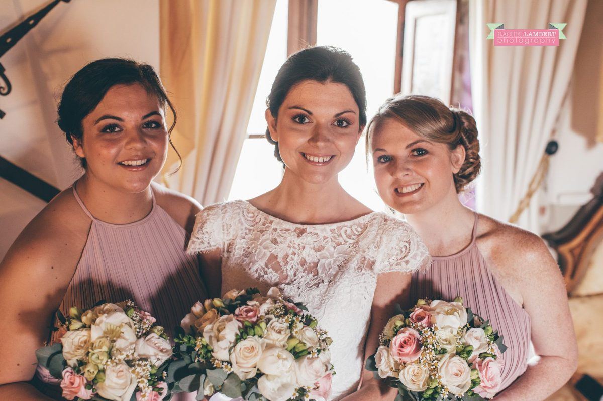 wedding in italy cortona tuscany villa san crispolto bridesmaids and bride