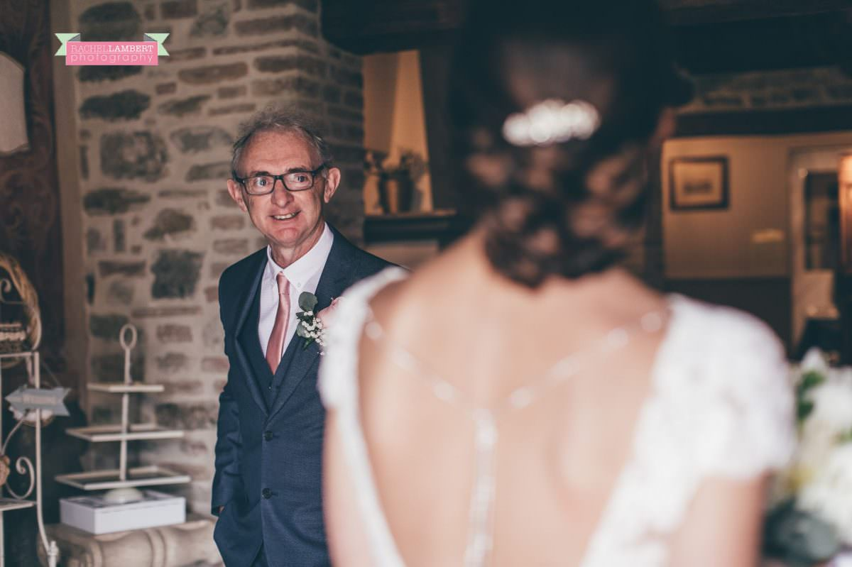 wedding in italy cortona tuscany villa san crispolto dad seeing bride for first time