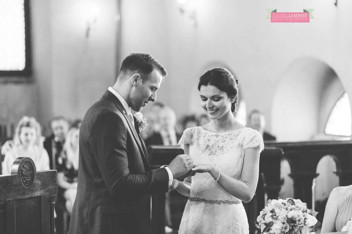 bride and groom portrait wedding in italy colour cortona tuscany black and white town hall rings
