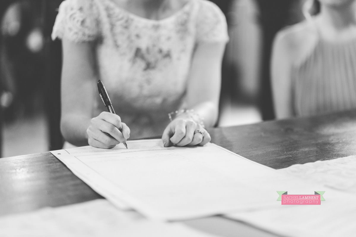 bride and groom portrait wedding in italy colour cortona tuscany black and white town hall signing the register