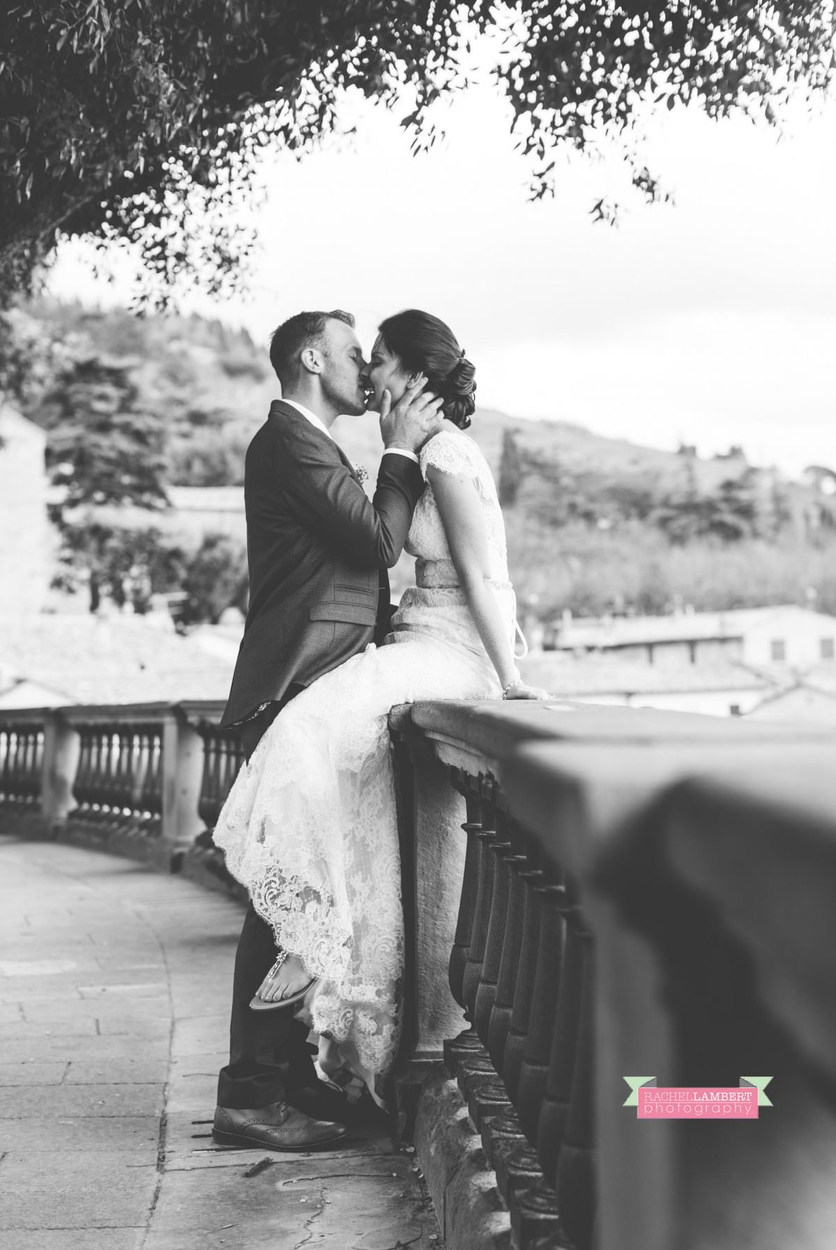bride and groom portrait wedding in italy colour cortona tuscany black and white