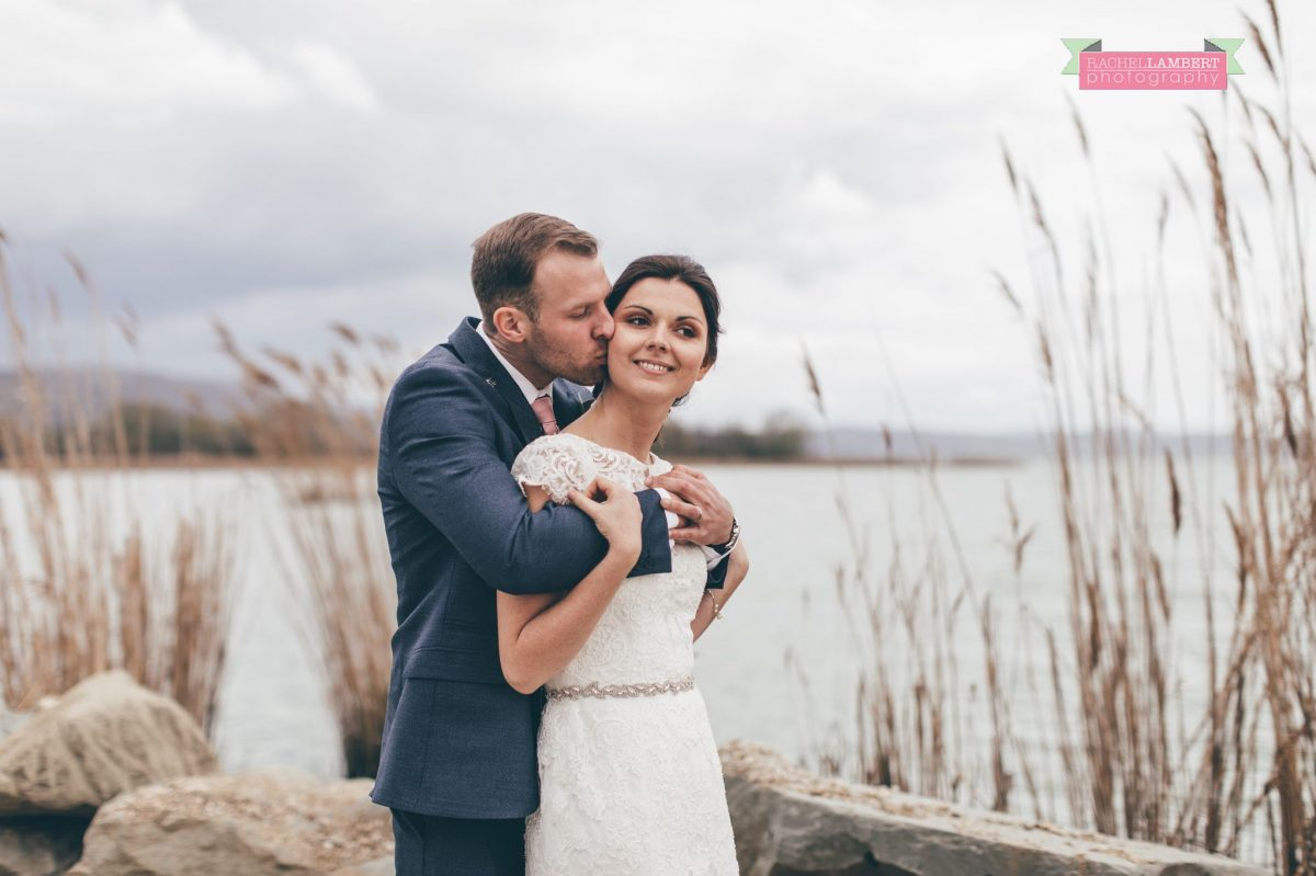 bride and groom portrait wedding in italy colour lake Tuoro sul Trasimeno