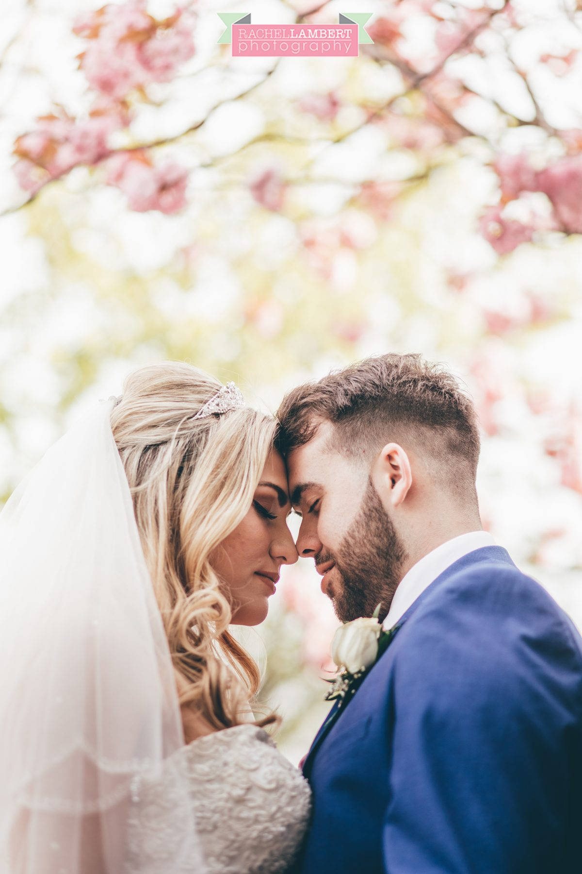 rachel lambert photography bride and groom holm house cherry blossoms