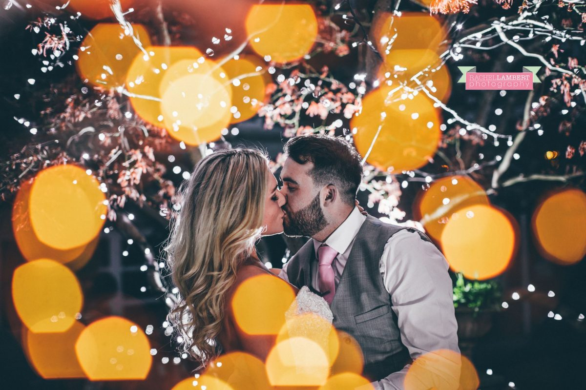 rachel lambert photography bride and groom holm house fairy lights off camera flash