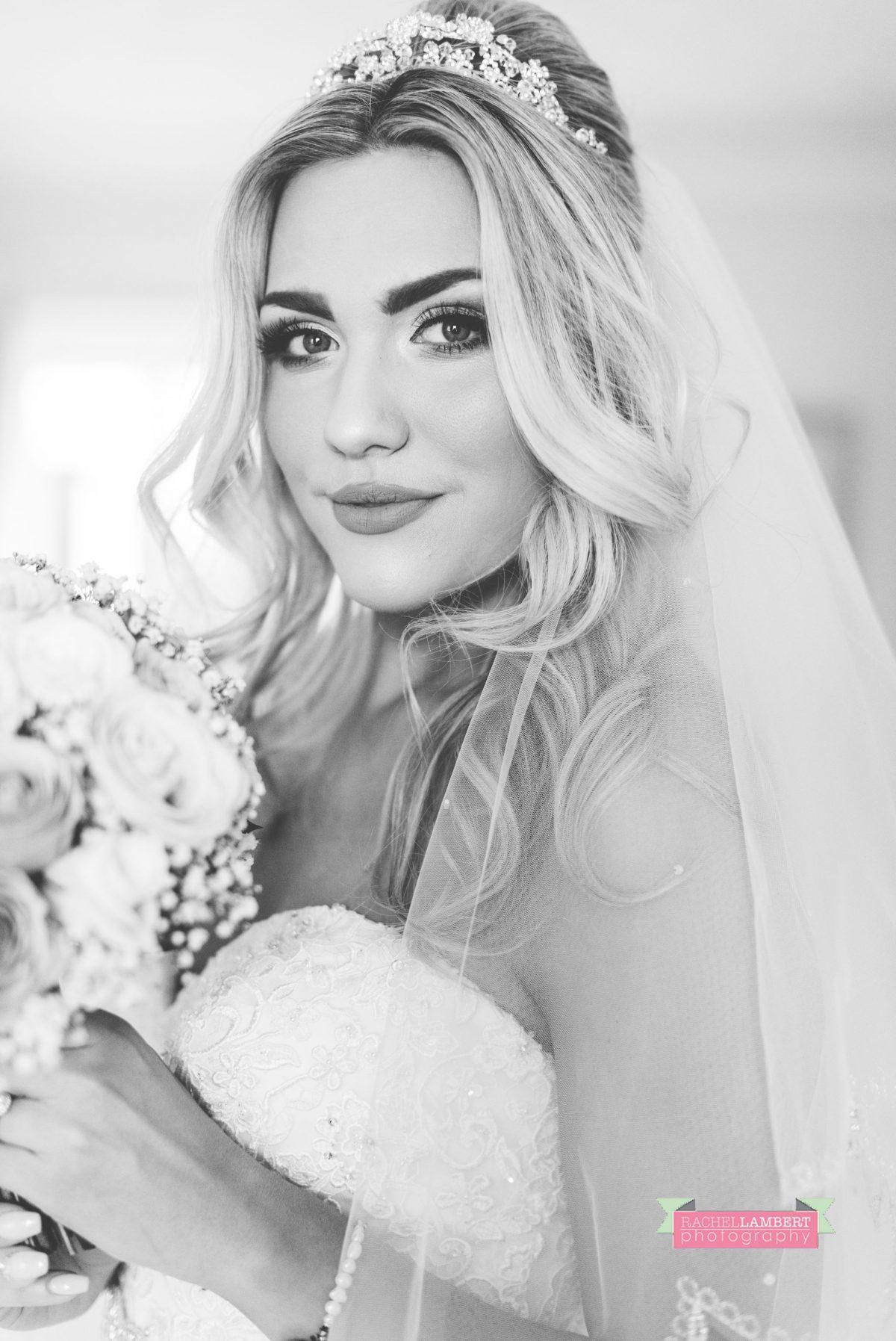 rachel lambert photography stunning bridal prep black and white