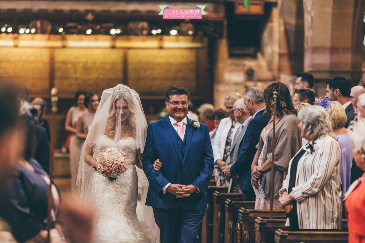 rachel lambert photography bride and groom st augustines church bride walking up aisle with father