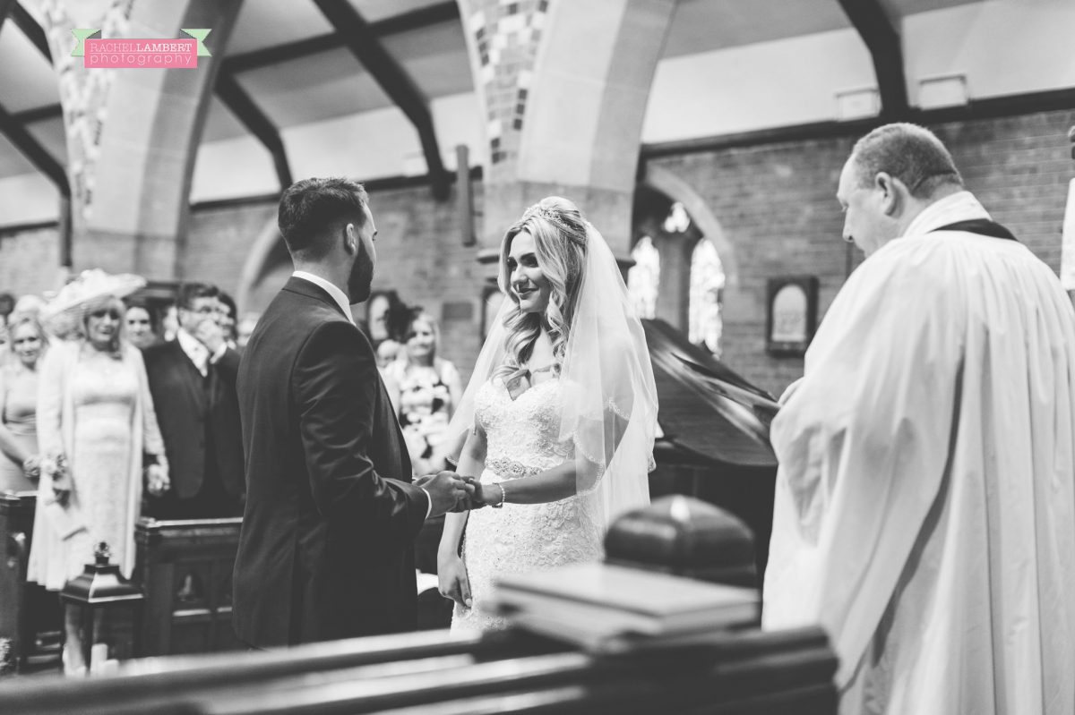 rachel lambert photography bride and groom st augustines church ceremony black and white