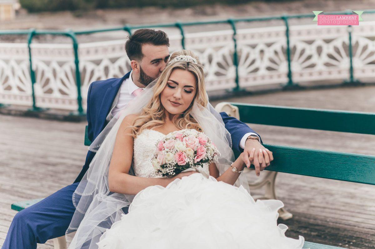rachel lambert photography bride and groom penarth pier