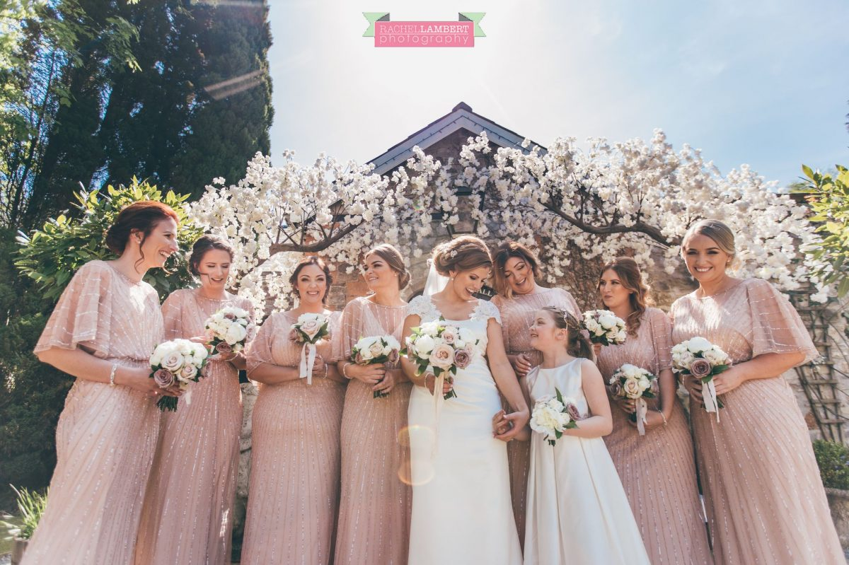 rachel lambert photography bride and groom pencoed house bridesmaids