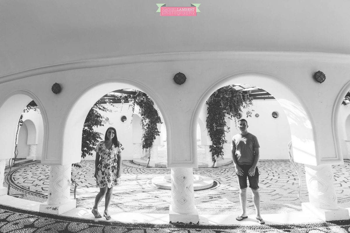destination wedding photographer rachel lambert photography bride and groom kalithea springs engagement shoot black and white