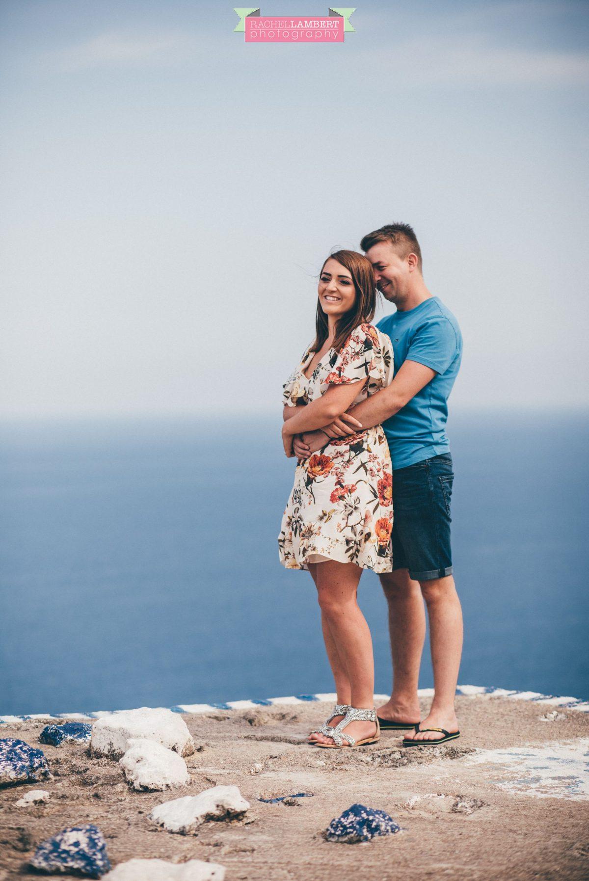 destination wedding photographer rachel lambert photography bride and groom engagement shoot monastery anthony quinn bay