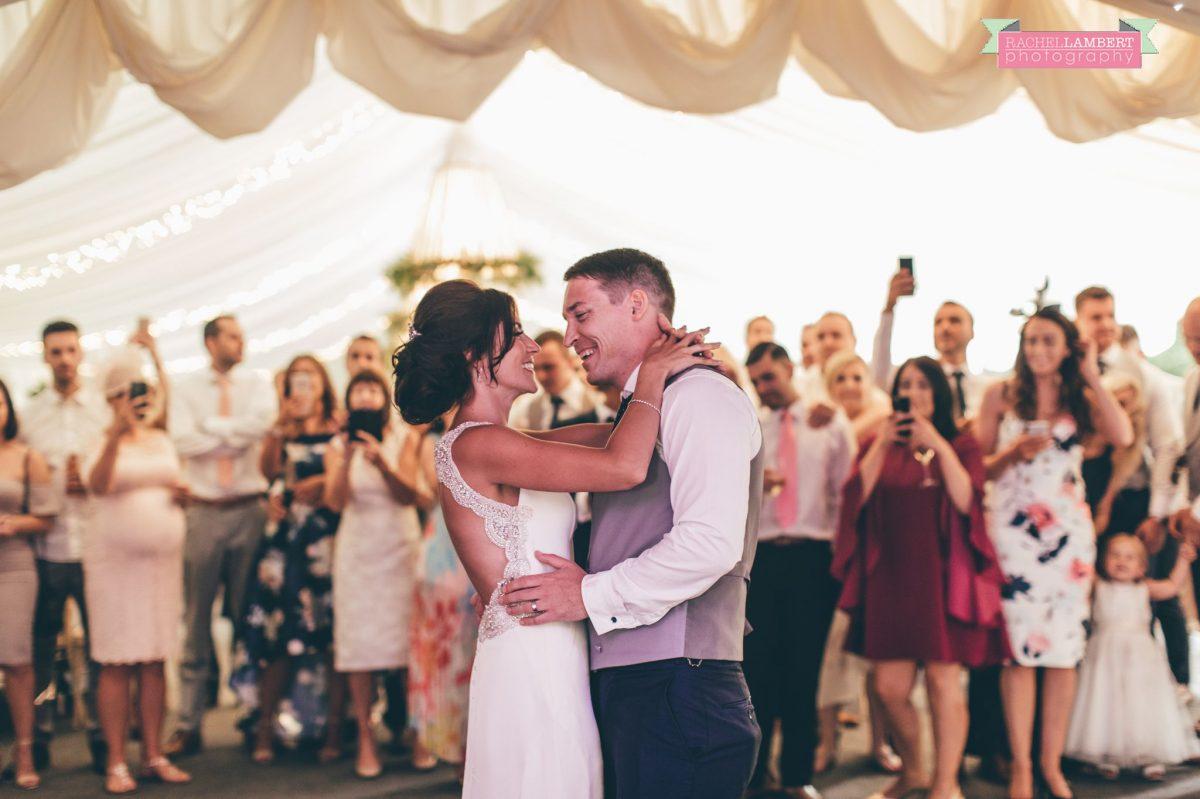 Rachel Lambert Photography llanerch vineyard wedding photographer bride and groom first dance