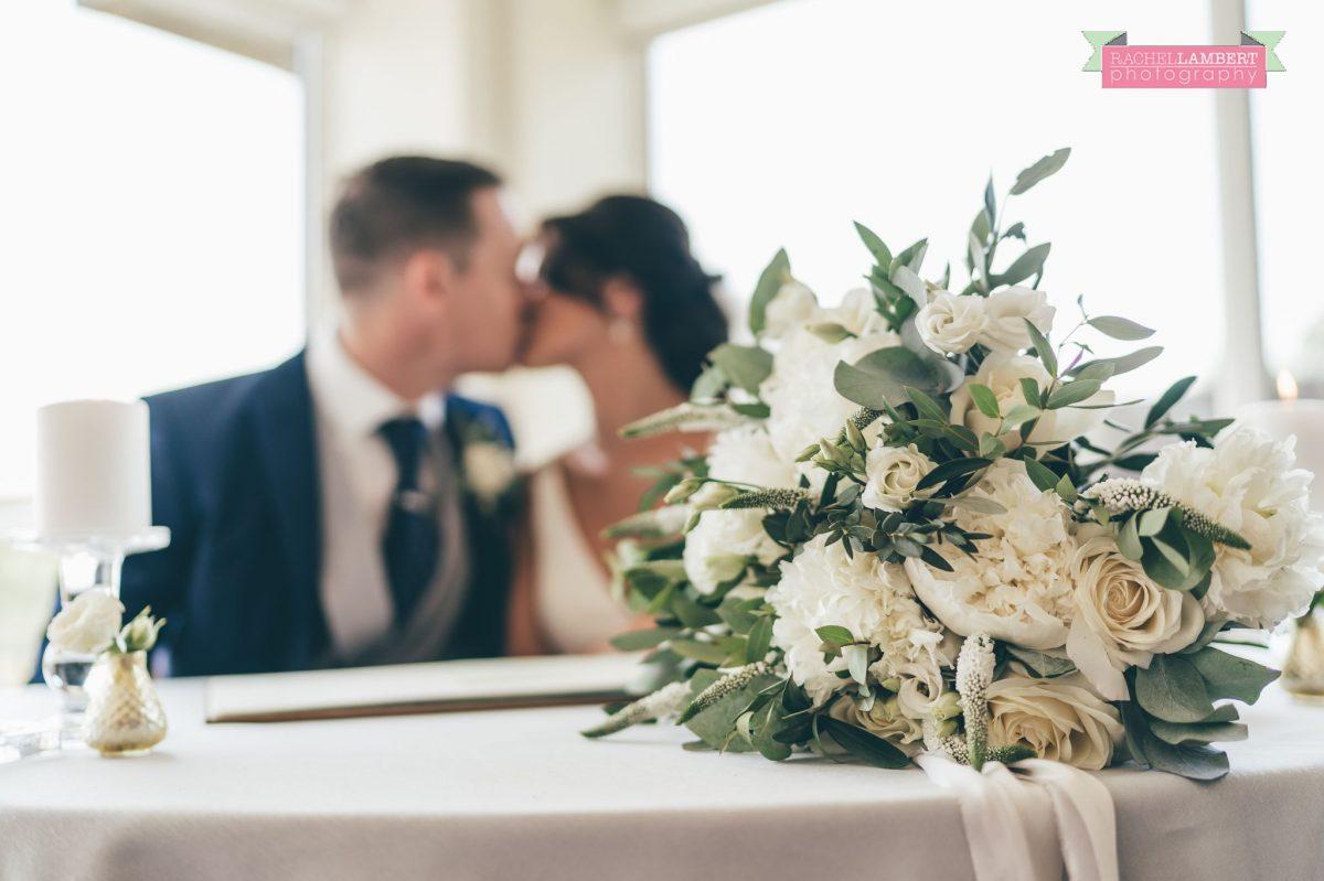 Rachel Lambert Photography llanerch vineyard wedding photographer bride and groom signing the register