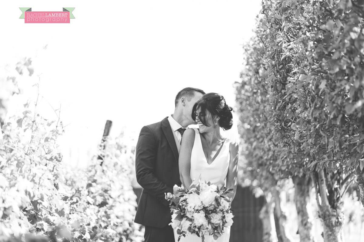 Rachel Lambert Photography llanerch vineyard wedding photographer bride and groom couple shots