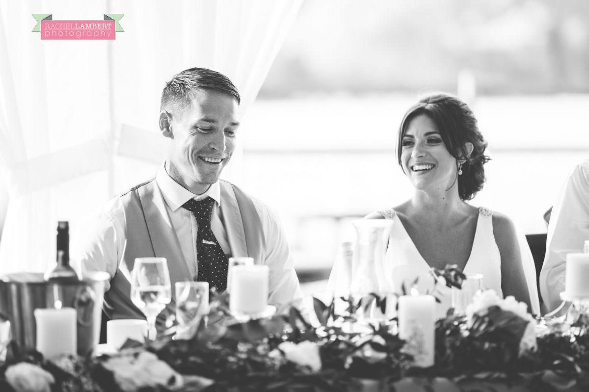 Rachel Lambert Photography llanerch vineyard wedding photographer bride and groom speeches