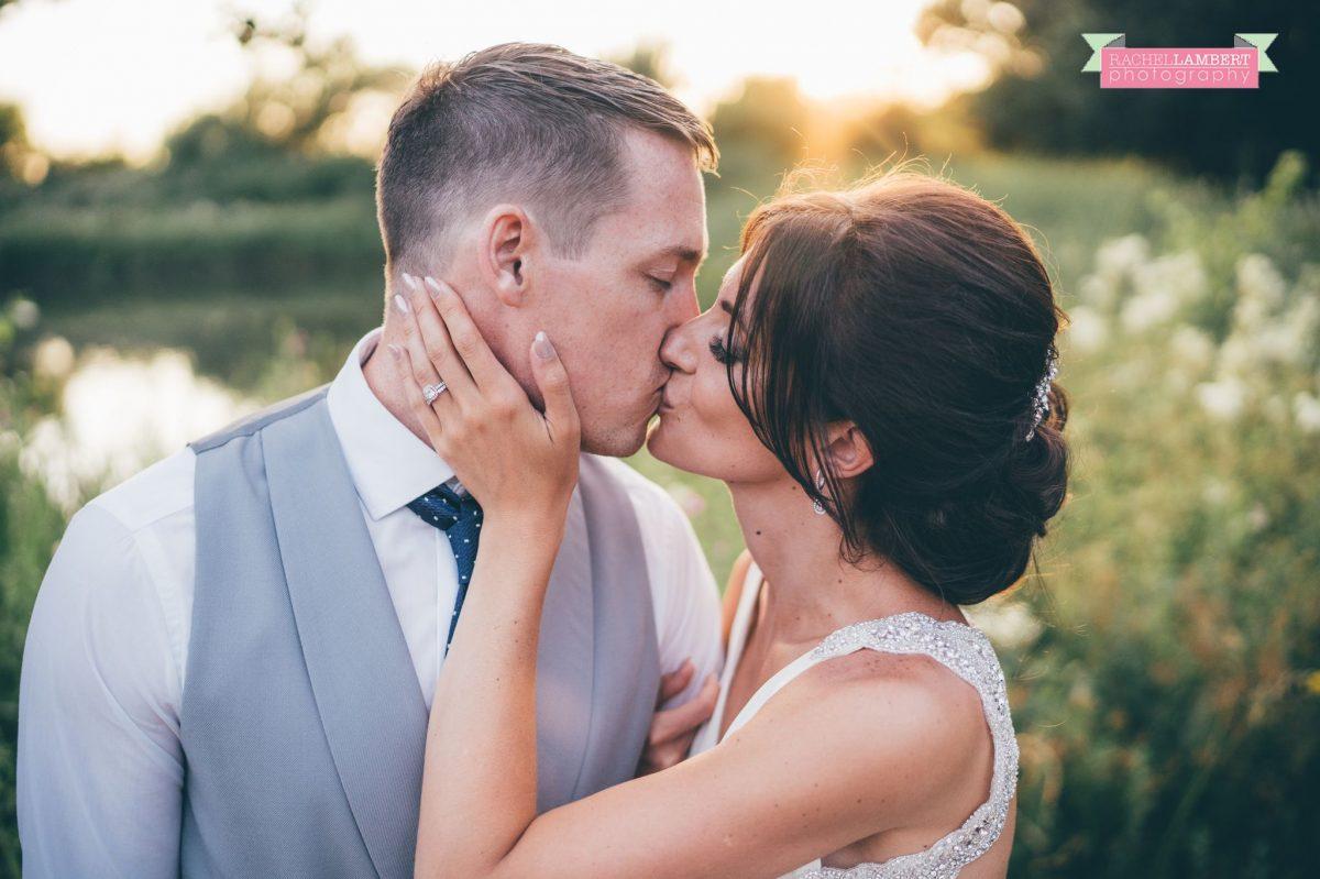 Rachel Lambert Photography llanerch vineyard wedding photographer bride and groom golden hour couple shots