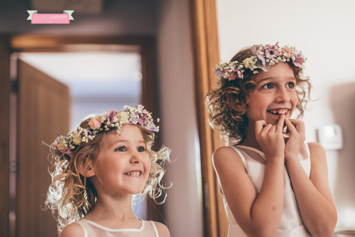 olwalls wedding photographer rachel lambert photography flower girls at mulberry house