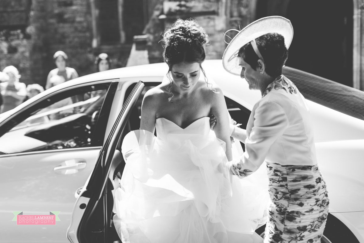 olwalls wedding photographer rachel lambert photography arrival of bride at church