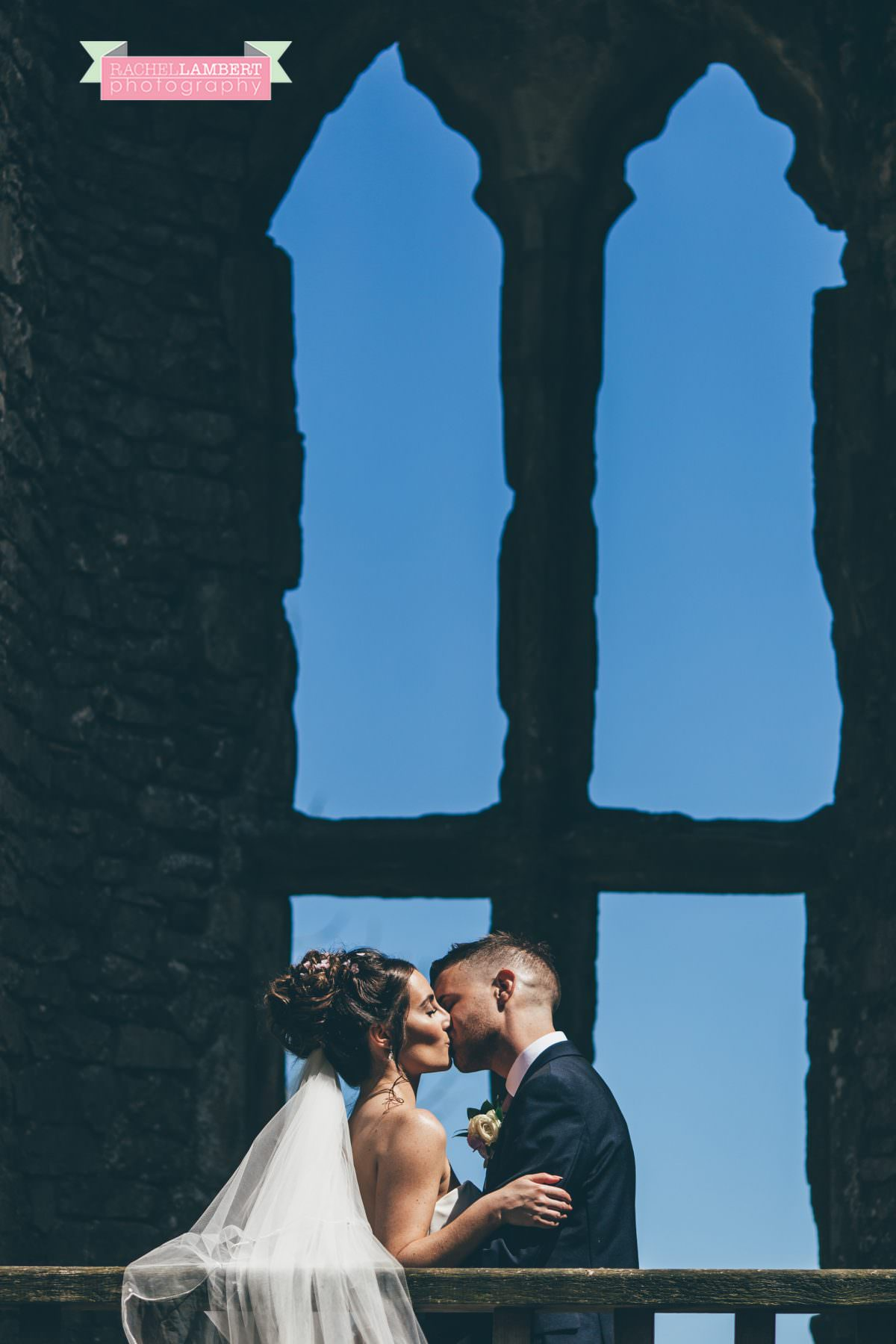 olwalls wedding photographer rachel lambert photography bride and groom weobley castle