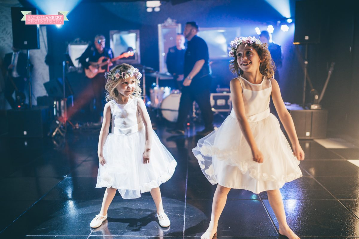 olwalls wedding photographer rachel lambert photography bride and groom flower girls dance floor