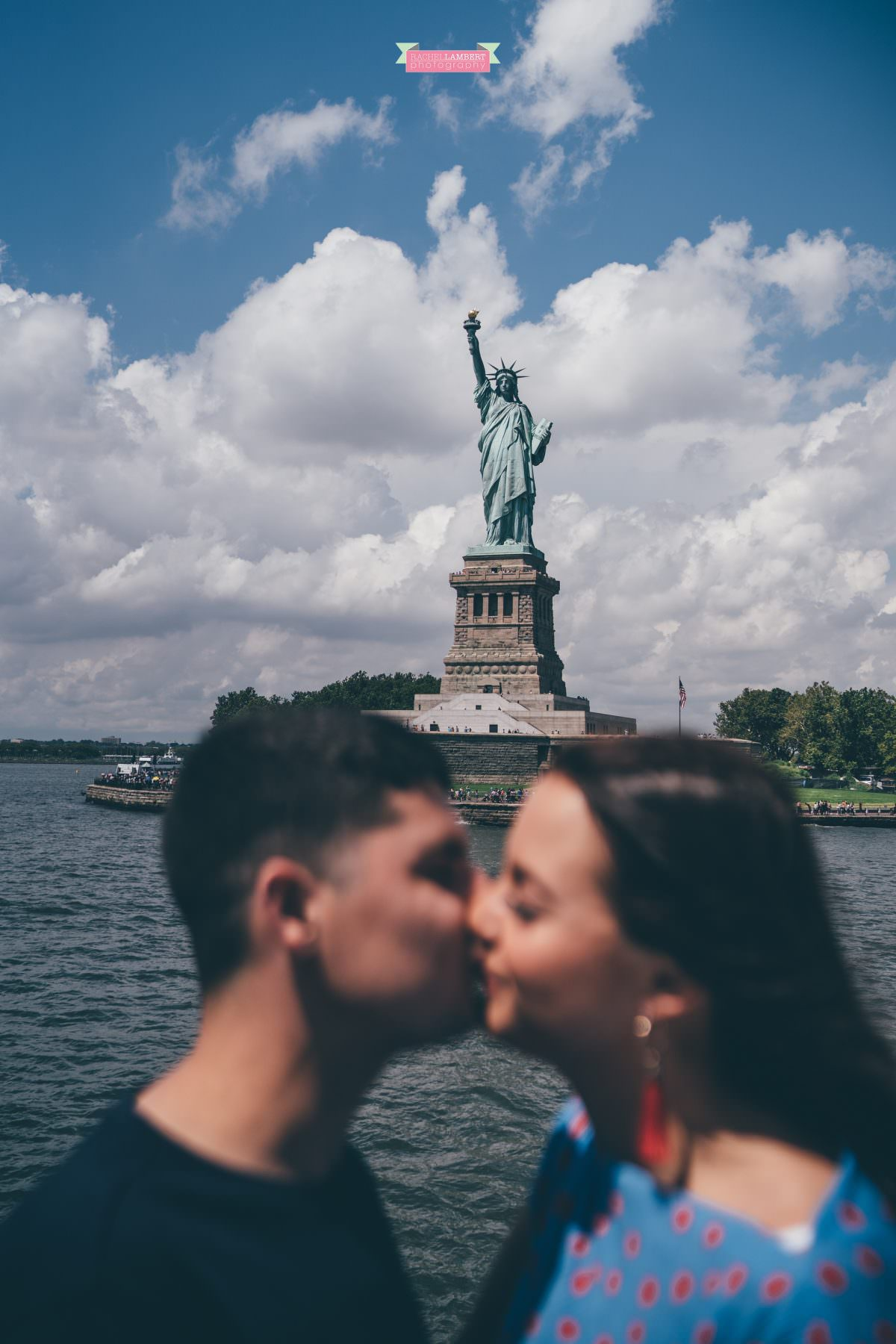 new york skyline rachel lambert photography bride and groom statue of liberty