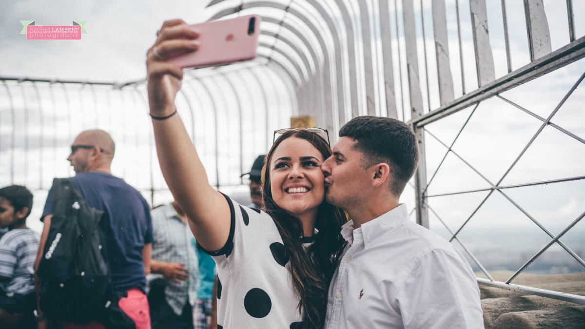 new york skyline rachel lambert photography bride and groom empire state building