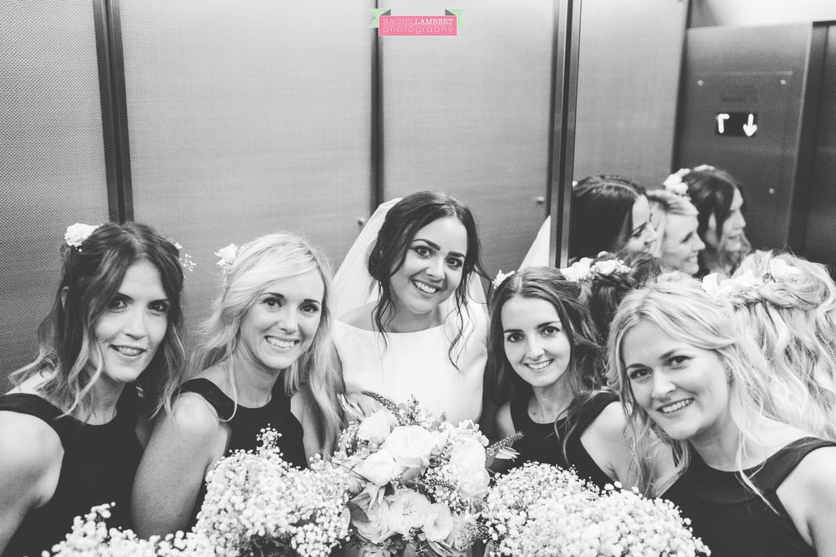 rachel lambert photography new york wedding photos bride and bridesmaids the manhattan hotel time square