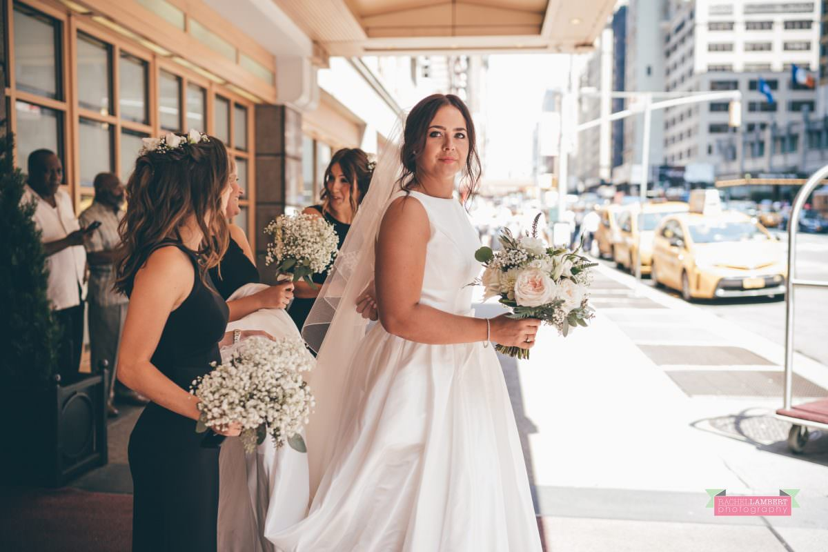 rachel lambert photography new york wedding photos bride and bridesmaids the manhattan hotel time square
