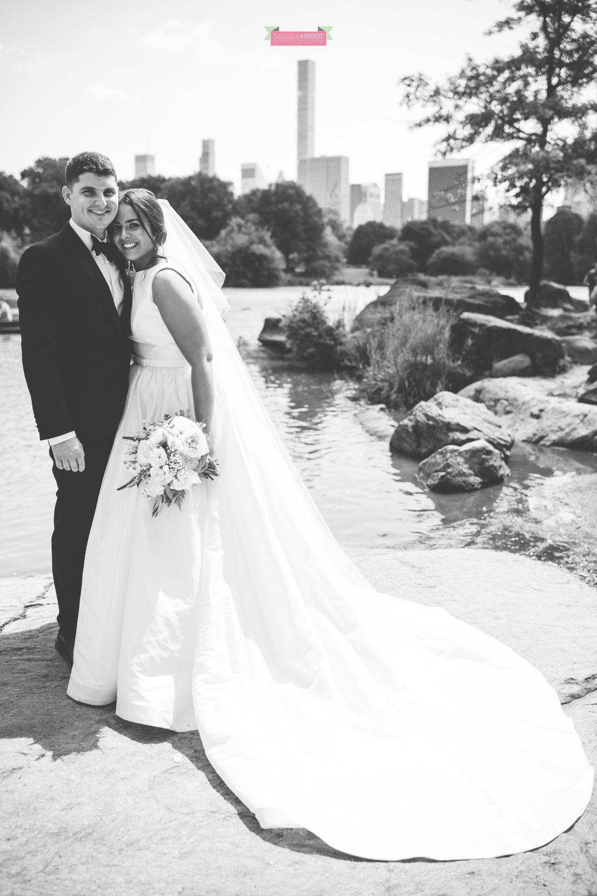rachel lambert photography new york wedding photos bride and groom central park the lake