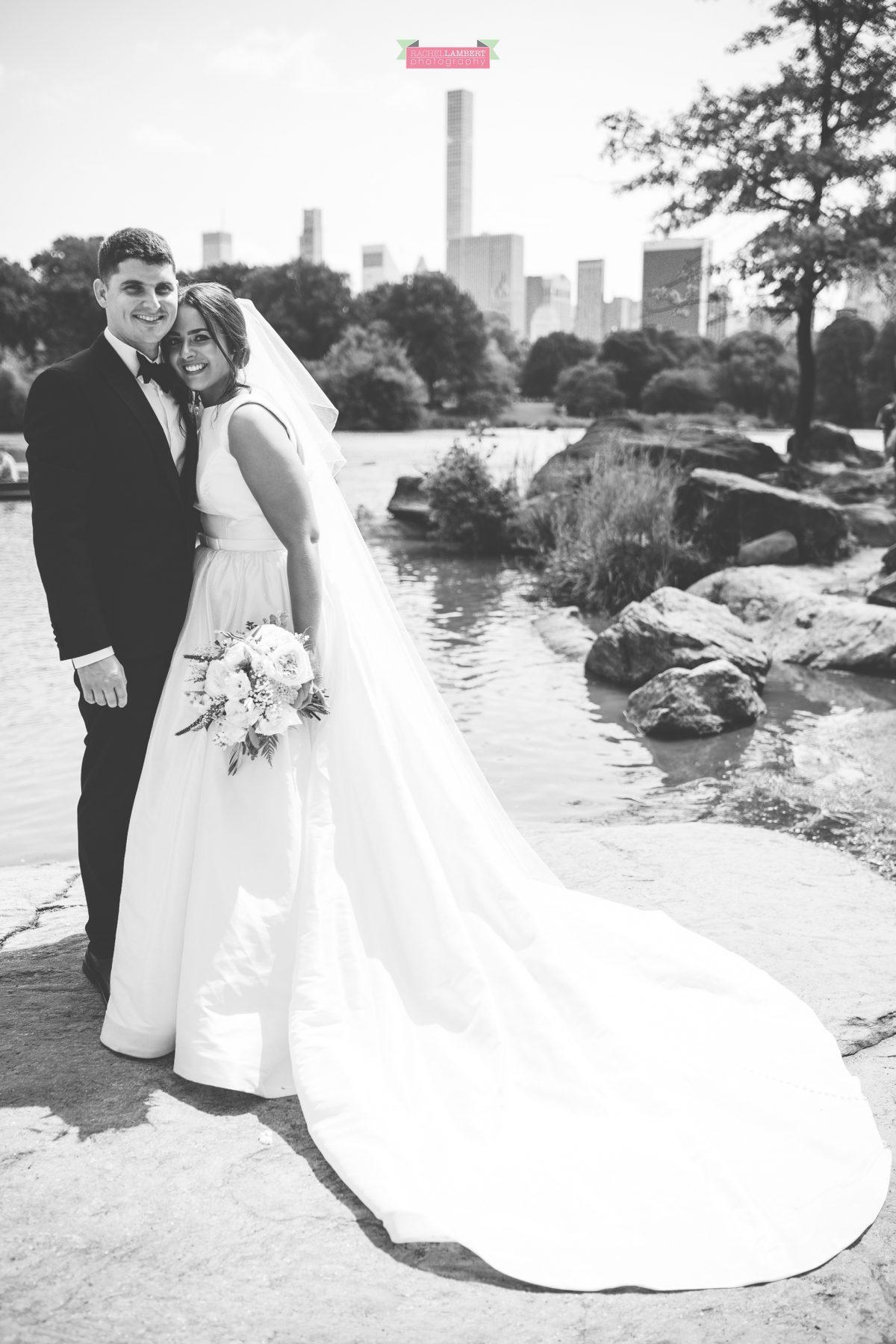 rachel lambert photography new york wedding photos bride and groom central park the lake
