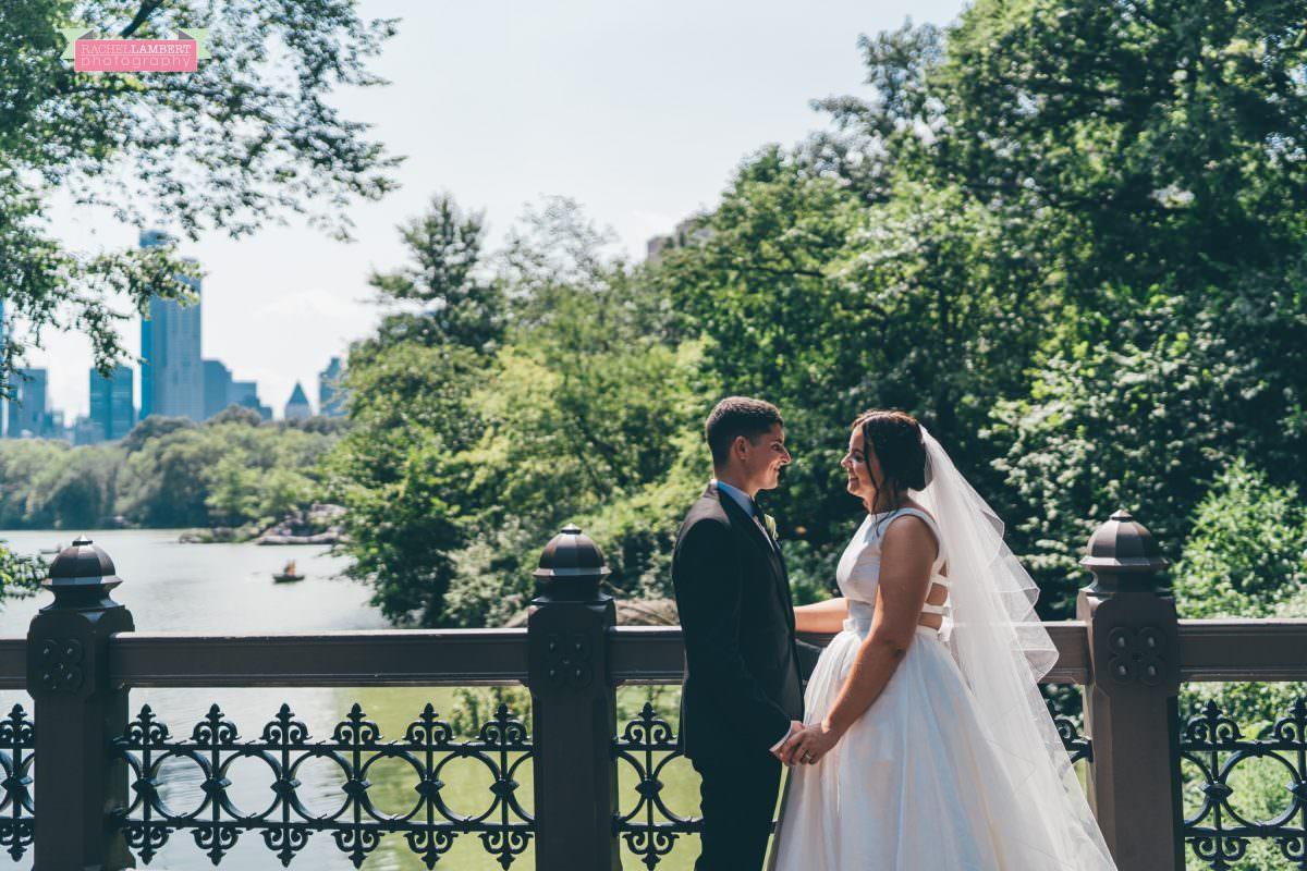 rachel lambert photography new york wedding photos bride and groom central park oak bridge