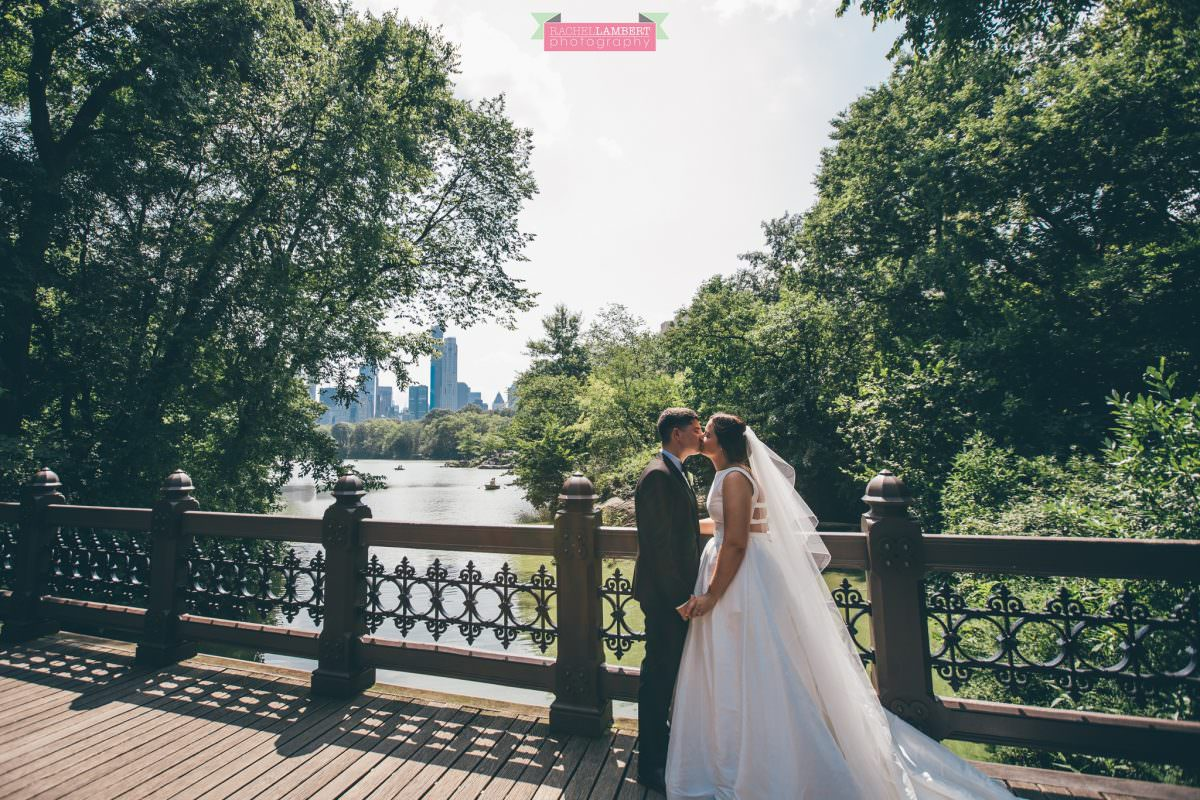 rachel lambert photography new york wedding photos bride and groom central park oak bridge