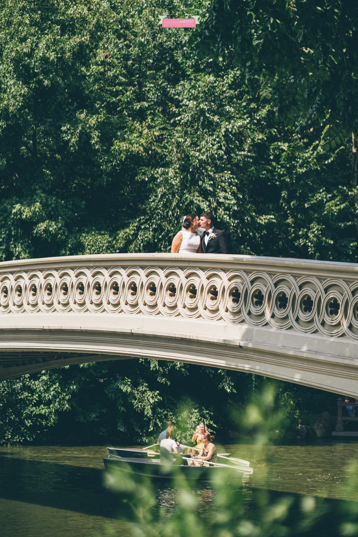 rachel lambert photography new york wedding photos bride and groom central park bow bridge