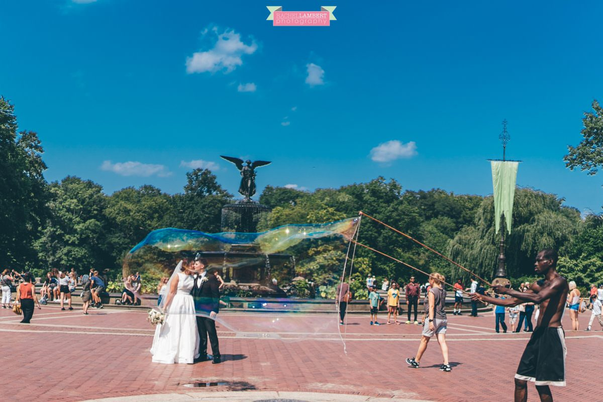 rachel lambert photography new york wedding photos bride and groom bethesda fountain