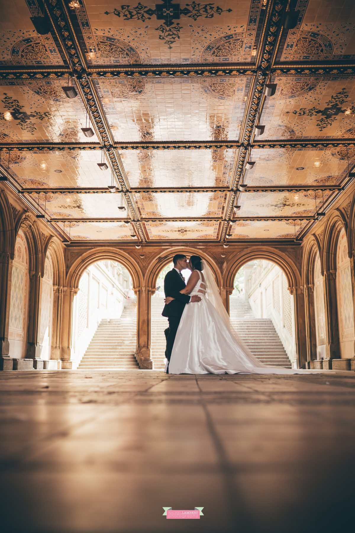 rachel lambert photography new york wedding photos bride and groom bethesda terrace