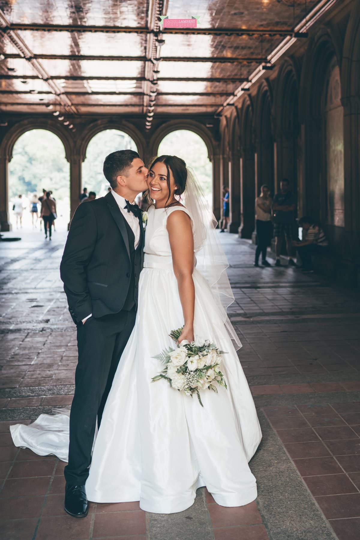 rachel lambert photography new york wedding photos bride and groom bethesda terrace