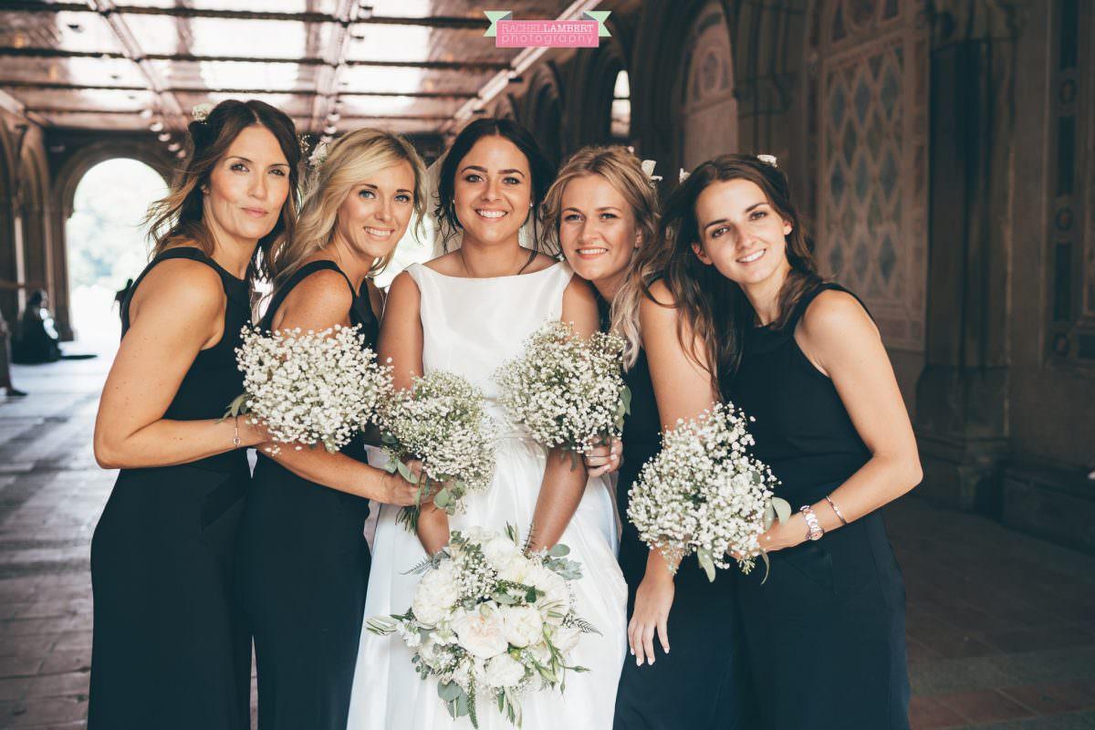 rachel lambert photography new york wedding photos bride and groom bethesda terrace bridesmaids
